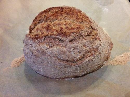 Das fertige Brot. Wer erkennt da auch ein Gesicht?
