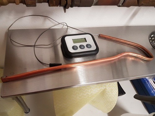 Die wasserdichte Kupferhülse für das Thermometer